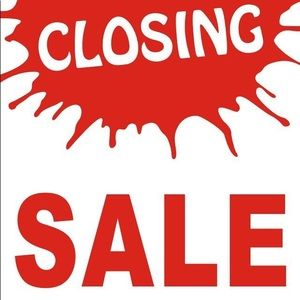 CLOSING SALE!  PLEASE READ BEFORE SHOPPING!